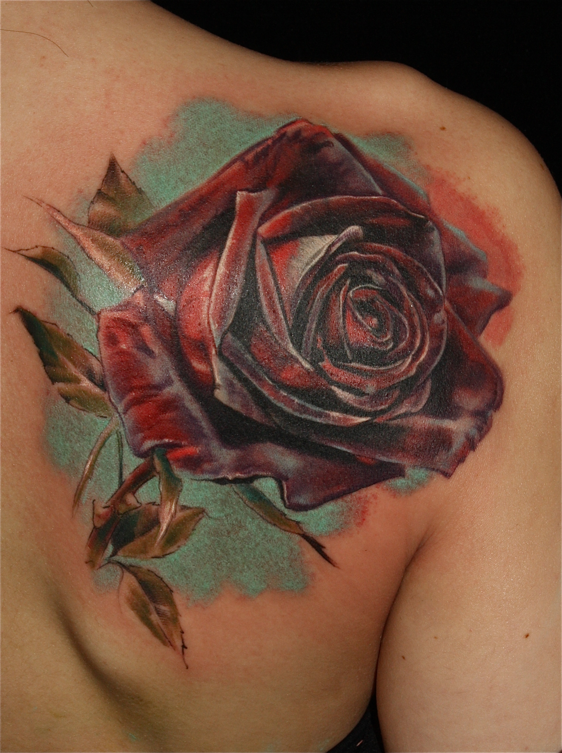 realistic rose tattoo by laura juan design of tattoosdesign of