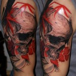 Csaba Kolozsvari red skull tattoo