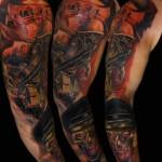 Csaba Kolozsvari skull tattoo design