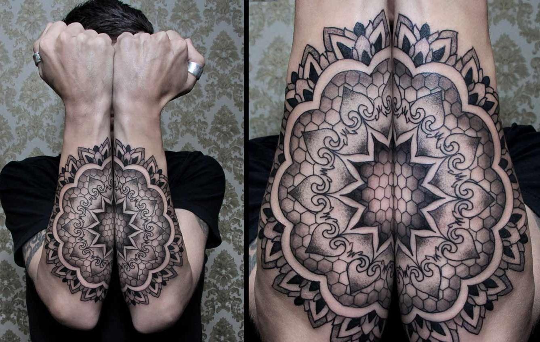 symmetrical tattoo by chaim machlev design of tattoosdesign of tattoos. Black Bedroom Furniture Sets. Home Design Ideas
