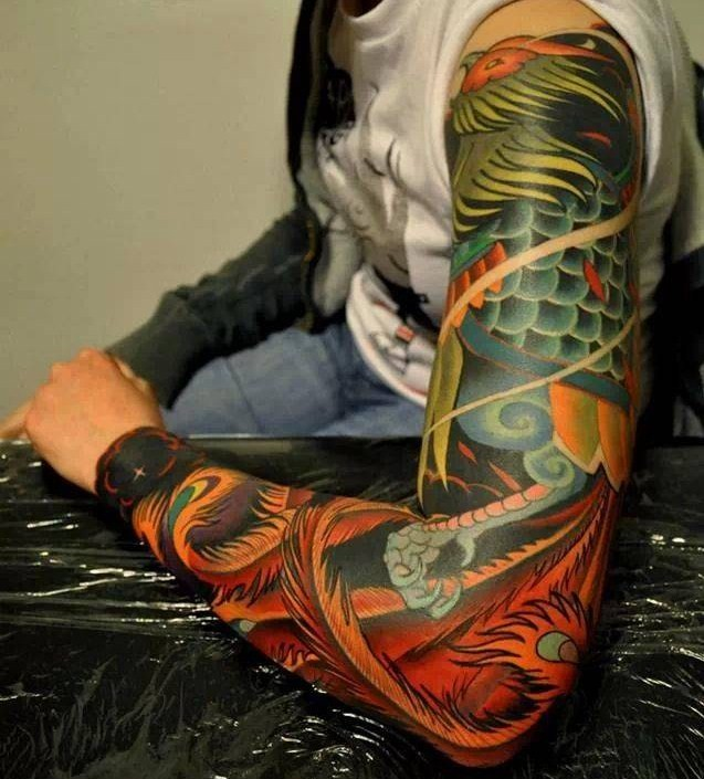 Marcin Surowiec Boldly Colored Tattoo