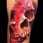 Robert Zyla wonderful skull tattoo
