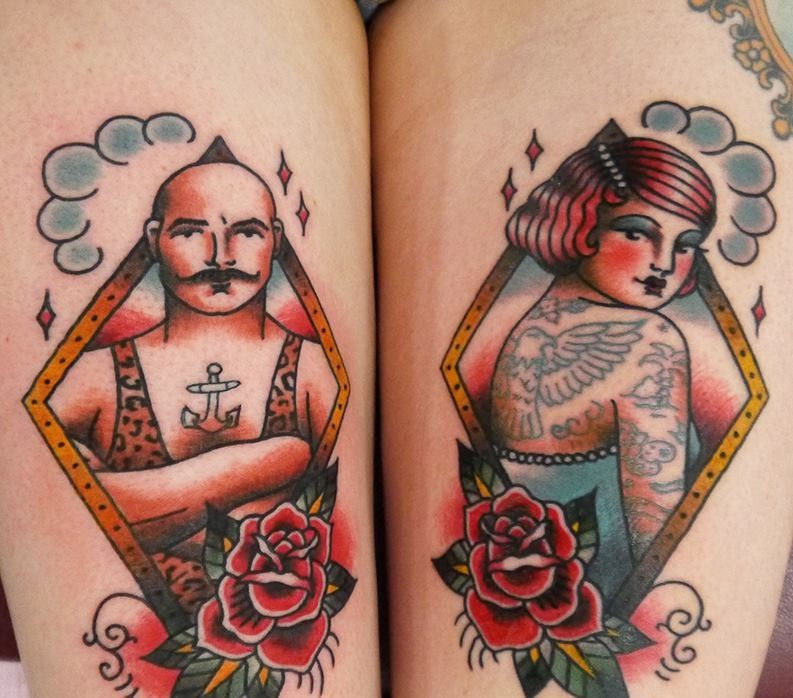 Man And Lady Tattoo By Angelique Houtkamp Design Of Tattoosdesign