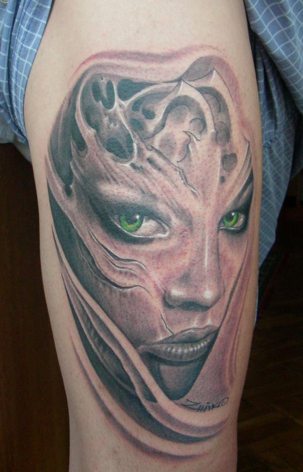 Realistic Portrait Tattoo By Zhivko Baychev