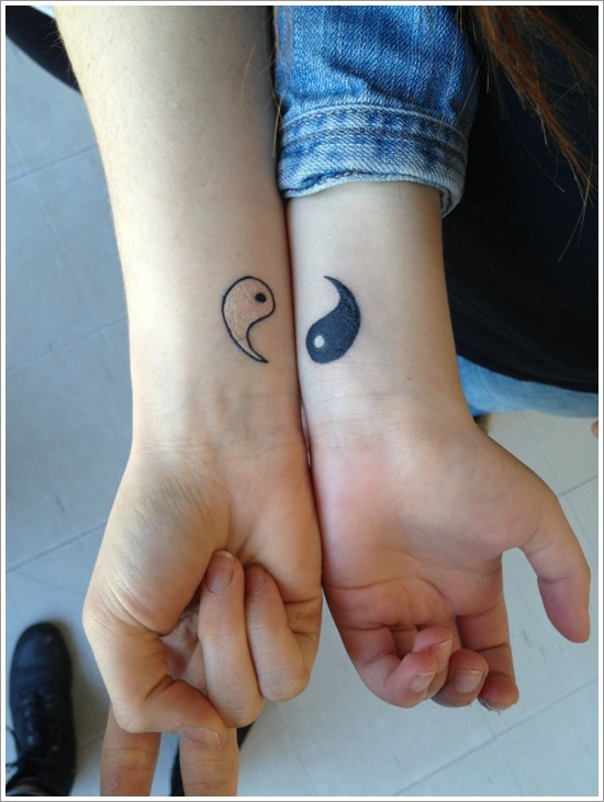 Simple Yin Yang Tattoo On Wrist Design Of Tattoosdesign Of