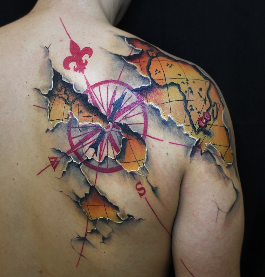 3d map tattoo design design of tattoosdesign of tattoos 3d map tattoo design gumiabroncs Images