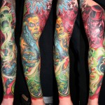 James Tex amazing full sleeve tattoo design