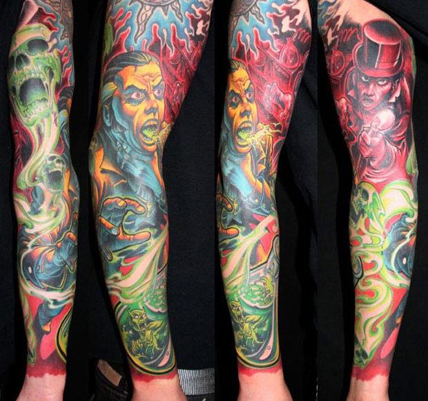 James Tex amazing full sleeve tattoo design