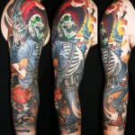 James Tex amazing skull full sleeve tattoo