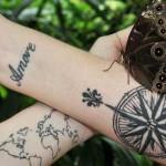 beautiful map tattoo