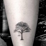 Dr Woo black tree tattoo design