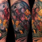 Max Pniewski charactetr tattoo design