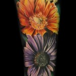 Max Pniewski colorful flower tattoo design