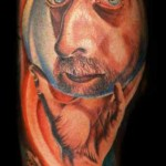 Mario Hartmann colorful portrait tattoo
