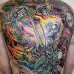 James Tex cool full back tattoo design