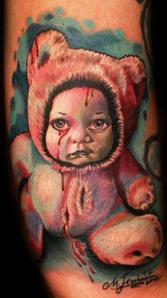 Tattoo baby images galleries with a bite for Cartoon baby tattoos