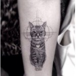 Dr Woo cute cat tattoo design
