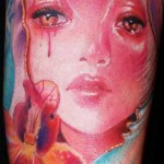 Mario Hartmann cute portrait tattoo