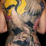 James Tex full back tattoo