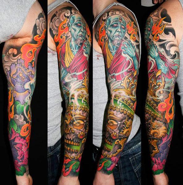 James Tex full sleeve tattoo