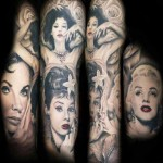 Mario Hartmann full sleeve portrait tattoo design