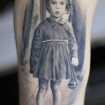 Darwin Enriquez little girl portrait tattoo