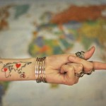 love and map tattoo