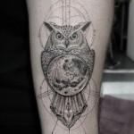 Dr Woo owl tattoo design