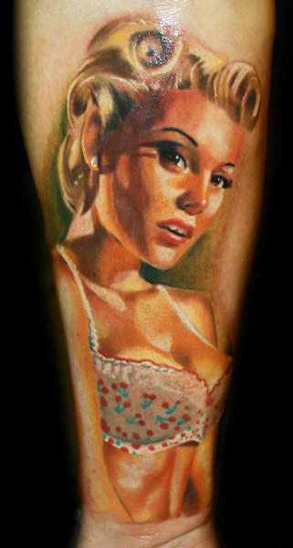 pin up tattoo design by Janos Kovarik - Design of TattoosDesign of ...