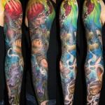 James Tex portrait full sleeve tattoo