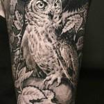 Sergio Sanchez realistic monochrome tattoo