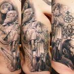 Sergio Sanchez realistic religious tattoo