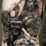 Sergio Sanchez realistic wolf tattoo