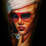 Janos Kovarik cool woman portrait tattoo