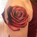 John Anderton simple rose tattoo