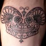 Scott Campbell skull tattoo design