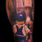 MaxPniewski tattoo design on leg