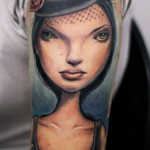 Darwin Enriquez unusual portrait tattoo design