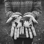 world tattoo on hands