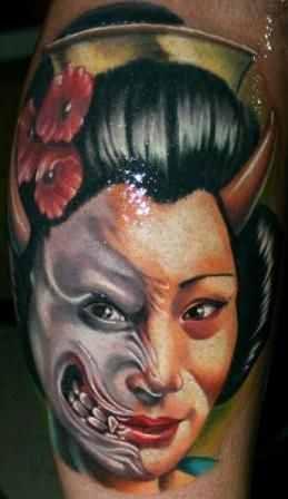 Janos Kovarik cool portrait tattoo