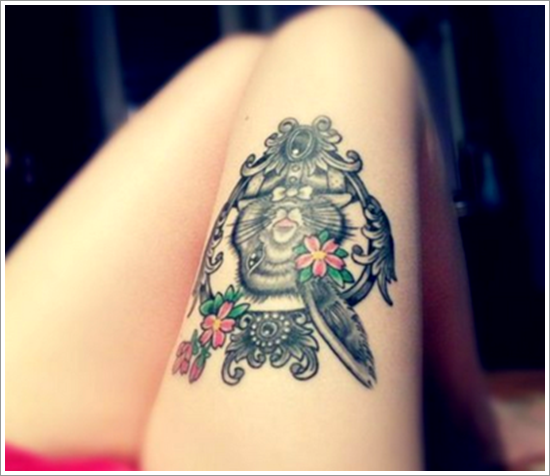 Bunny Tattoo On Thigh For Women Design Of Tattoosdesign Of
