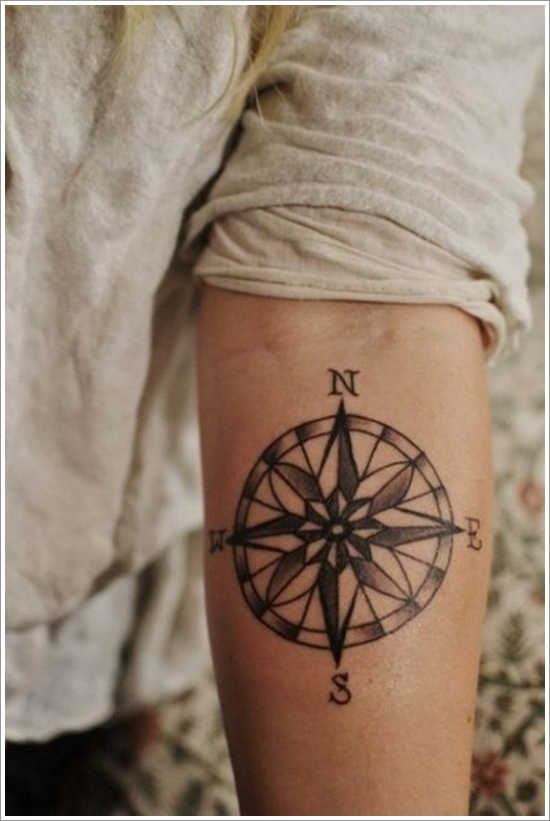 Impressive Compass Tattoo Design Design Of Tattoosdesign Of Tattoos
