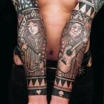 impressive spade tattoo design