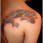 lizard tattoo design on back
