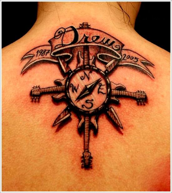 meaningful compass tattoo - Design of TattoosDesign of Tattoos