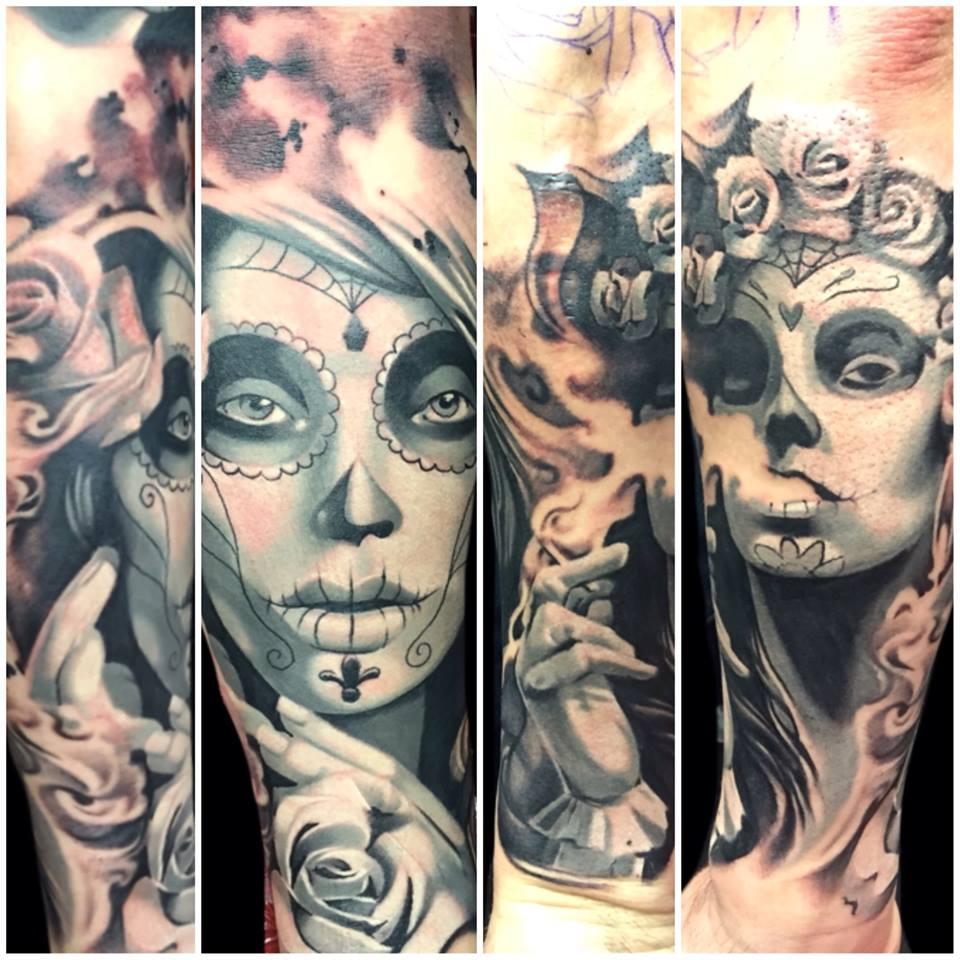 Joe Matisa portrait tattoo design
