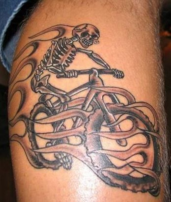 skull and bicycle tattoo design of tattoosdesign of tattoos. Black Bedroom Furniture Sets. Home Design Ideas