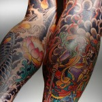 yakuza tattoo on both legs