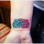 roses wrist tattoo design