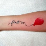 simple hot air balloon tattoo